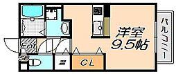 兵庫県神戸市灘区下河原通1丁目の賃貸アパートの間取り