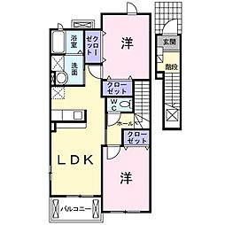 ユニゾン・スクエアIII[2階]の間取り