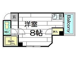 シティマインド京町堀[5階]の間取り