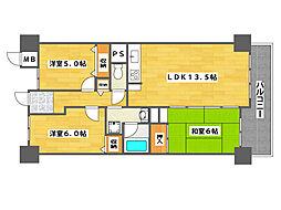 サワードゥー住之江公園[7階]の間取り