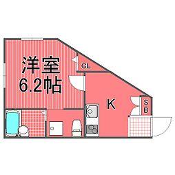 ステラ横浜東[1階]の間取り