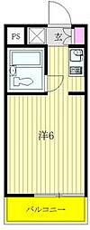神奈川県相模原市中央区上溝5丁目の賃貸マンションの間取り