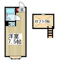 ヒルサイドコートあさか台[2階]の間取り