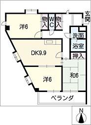 サンシティ覚王山[3階]の間取り
