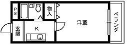 ロイヤル和泉2[2階]の間取り