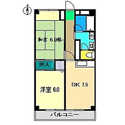 山本マンションII[3階]の間取り