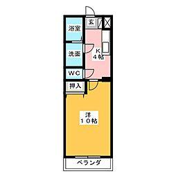 HANAYASHIKI[4階]の間取り