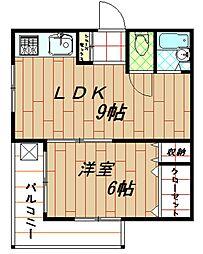 兵庫県神戸市兵庫区会下山町1丁目の賃貸マンションの間取り