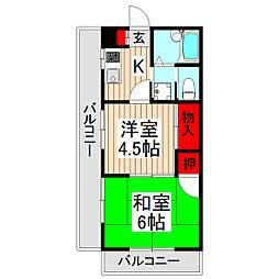 ラ・メール和光[2階]の間取り