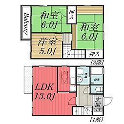 [タウンハウス] 千葉県四街道市美しが丘1丁目 の賃貸【/】の間取り