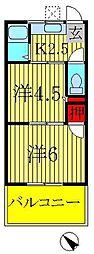第5メゾン若竹[2階]の間取り