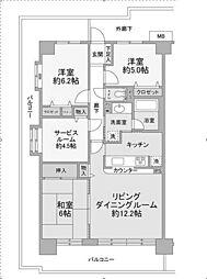 ルネ小田急相模原モアステージ[7階]の間取り