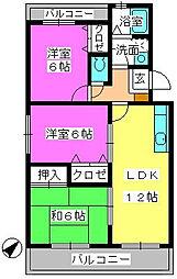 ローヤル南福岡[1階]の間取り