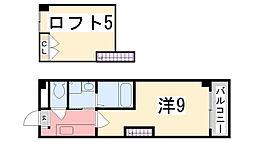 兵庫県姫路市山野井町の賃貸マンションの間取り
