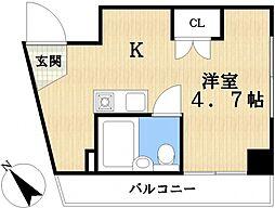 サイレンスコーポ松江[4階]の間取り