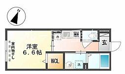 ファミーユ三木[2階]の間取り