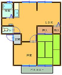 アーバンライフ吉田 B[2階]の間取り