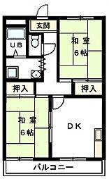 兵庫県姫路市広畑区早瀬町2丁目の賃貸マンションの間取り