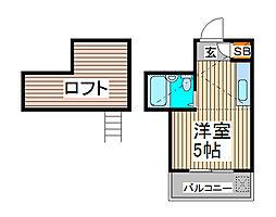 メゾン・ド・ミニヨン2[2階]の間取り