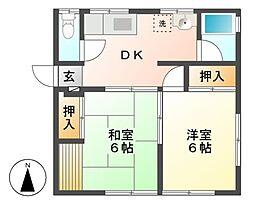 コーポ田中A棟[2階]の間取り