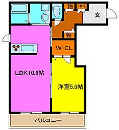 シャーメゾン岩田町[3階]の間取り