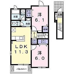 クレメント A[2階]の間取り