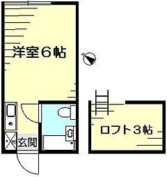 KOハイツ[1階]の間取り