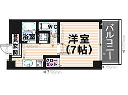 コスモコート[5階]の間取り