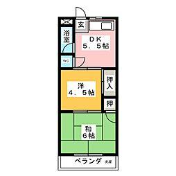 弥生ヶ岡荘[1階]の間取り