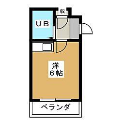 アップビート[4階]の間取り