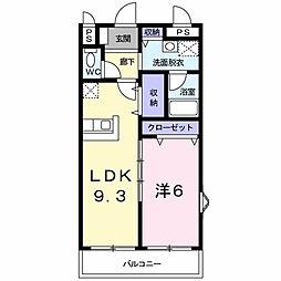 エンパイヤヴィラ[2階]の間取り