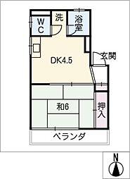 福住ビル[2階]の間取り
