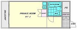豊国スカイマンション国分[716号室]の間取り
