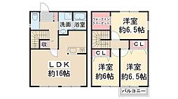 [テラスハウス] 兵庫県川西市鴬の森町 の賃貸【兵庫県 / 川西市】の間取り