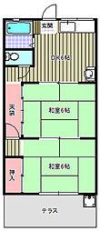 第3コーポ吉岡[205号室]の間取り