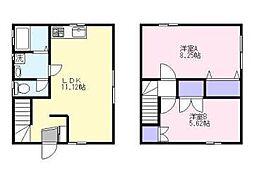 フレンズハウス多賀[B号室]の間取り