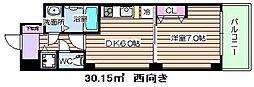 ノルデンタワー天神橋[17階]の間取り