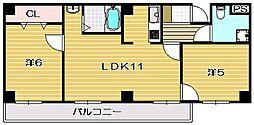 山崎第6マンション[201号室]の間取り