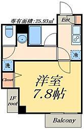 東武伊勢崎線 とうきょうスカイツリー駅 徒歩4分の賃貸マンション 3階1Kの間取り
