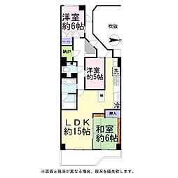 パークハイツ越谷B棟[4階]の間取り