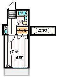 埼玉県川口市芝の賃貸アパートの間取り