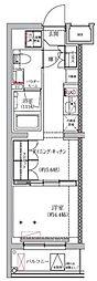 セジョリ板橋坂下II 2階1DKの間取り