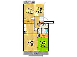 コンフォール広田[3階]の間取り