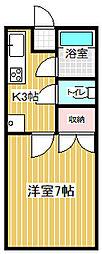 サンハイツアカシヤ[201号室]の間取り