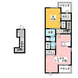 サンハウス[2階]の間取り