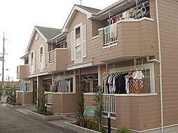 京都府城陽市久世南垣内の賃貸アパートの外観