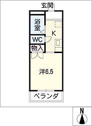 サングレイス[1階]の間取り