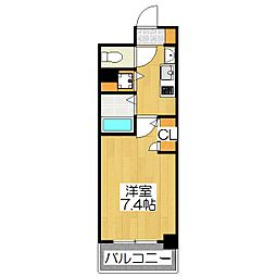 プレサンス京都修学院[302号室]の間取り