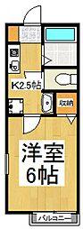 第4富士ハイツ[2階]の間取り