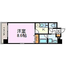 ステージファースト名駅[6階]の間取り